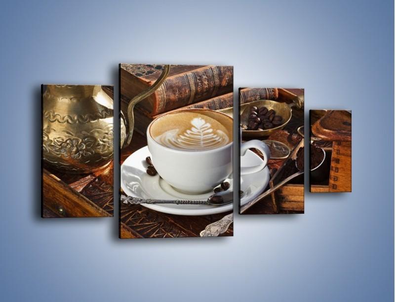 Obraz na płótnie – Wspomnienie przy kawie – czteroczęściowy JN377W4