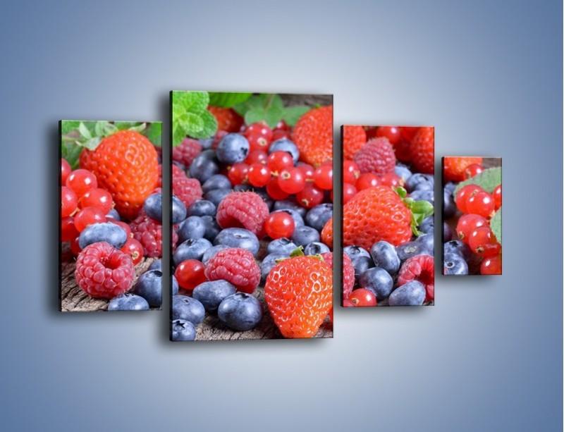 Obraz na płótnie – Owoce z działki – czteroczęściowy JN422W4