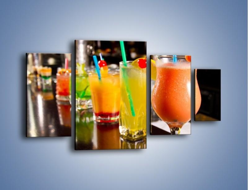 Obraz na płótnie – Barmańskie drinki – czteroczęściowy JN433W4