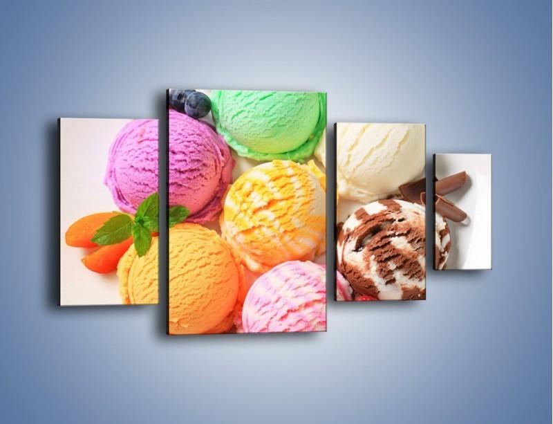 Obraz na płótnie – Lody we wszystkich kolorach lata – czteroczęściowy JN443W4