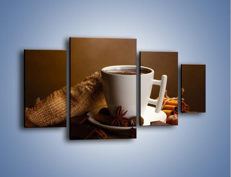 Obraz na płótnie – Gorąca czekolada z dodatkami – czteroczęściowy JN452W4