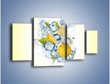 Obraz na płótnie – Cytrynowo-wirujące trio – czteroczęściowy JN497W4