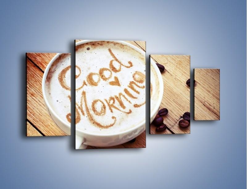 Obraz na płótnie – Kawa z bezą – czteroczęściowy JN605W4