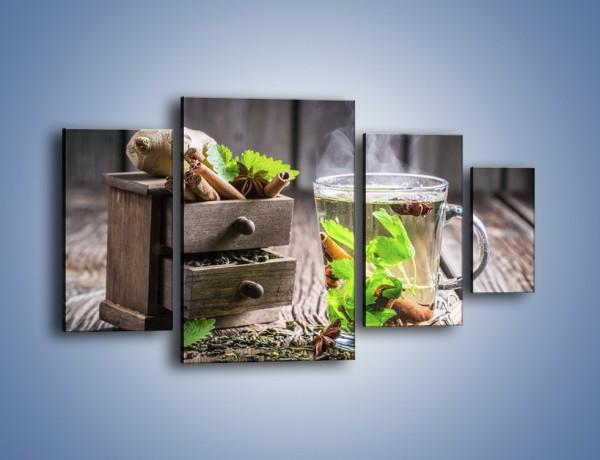 Obraz na płótnie – Herbata z duża ilością dodatków – czteroczęściowy JN667W4