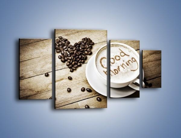 Obraz na płótnie – Z miłości do kawy – czteroczęściowy JN710W4