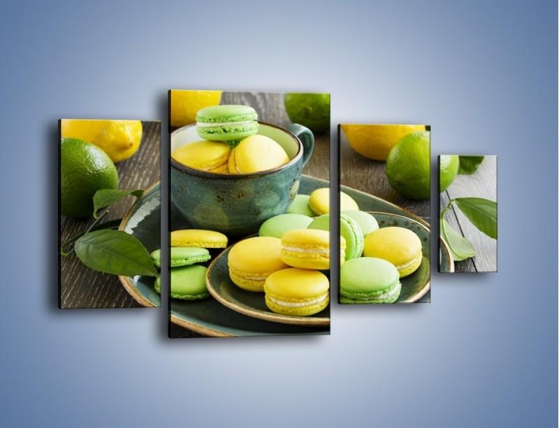 Obraz na płótnie – Cytrynowo-limonkowe ciasteczka – czteroczęściowy JN724W4