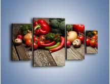 Obraz na płótnie – Warzywa w roli głównej – czteroczęściowy JN726W4