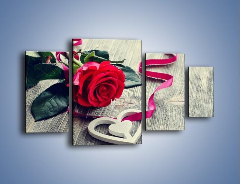 Obraz na płótnie – Od serca aż po różę – czteroczęściowy K1013W4