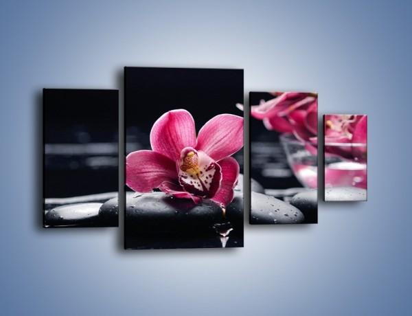 Obraz na płótnie – Kwiat i jego przyjaciele – czteroczęściowy K1014W4