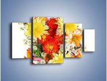 Obraz na płótnie – Bukiecik kwiatów z ogródka – czteroczęściowy K118W4