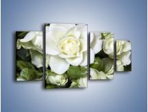 Obraz na płótnie – Białe róże na stole – czteroczęściowy K131W4