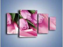 Obraz na płótnie – Atłas wśród tulipanów – czteroczęściowy K152W4