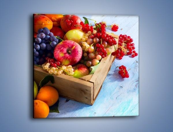 Obraz na płótnie – Skrzynka z owocami – jednoczęściowy kwadratowy JN405