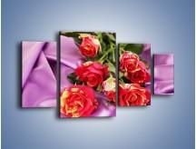 Obraz na płótnie – Błogi odpoczynek z różą – czteroczęściowy K251W4