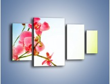 Obraz na płótnie – Akcent kwiatowy – czteroczęściowy K268W4