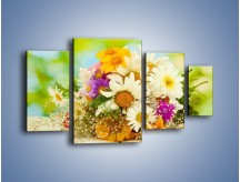 Obraz na płótnie – Bukiecik dla małej ogrodniczki – czteroczęściowy K369W4