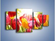 Obraz na płótnie – Bajecznie słoneczne tulipany – czteroczęściowy K428W4