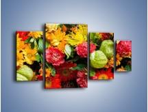 Obraz na płótnie – Bukiet pełen soczystych kolorów – czteroczęściowy K461W4