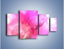 Obraz na płótnie – Budzący dzień w różowym kwiecie – czteroczęściowy K487W4