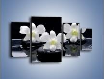 Obraz na płótnie – Biel w kwiecie nocą – czteroczęściowy K512W4