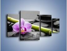 Obraz na płótnie – Bambus czy storczyk – czteroczęściowy K686W4