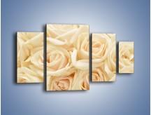 Obraz na płótnie – Bukiet herbacianych róż – czteroczęściowy K710W4