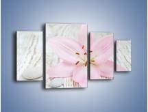 Obraz na płótnie – Cała słodycz w lilii – czteroczęściowy K727W4