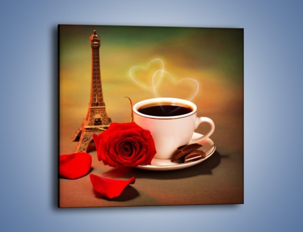 Obraz na płótnie – Kawa pełna miłości – jednoczęściowy kwadratowy JN412