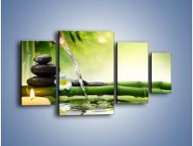 Obraz na płótnie – Bambus i źródło wody – czteroczęściowy K930W4