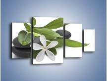 Obraz na płótnie – Artystyczna kompozycja z kwiatem – czteroczęściowy K968W4