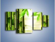Obraz na płótnie – Bambusowe liście i łodygi – czteroczęściowy KN027W4