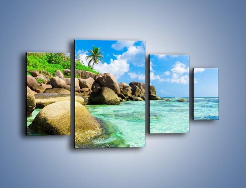 Obraz na płótnie – Lazurowa woda w tropikach – czteroczęściowy KN035W4