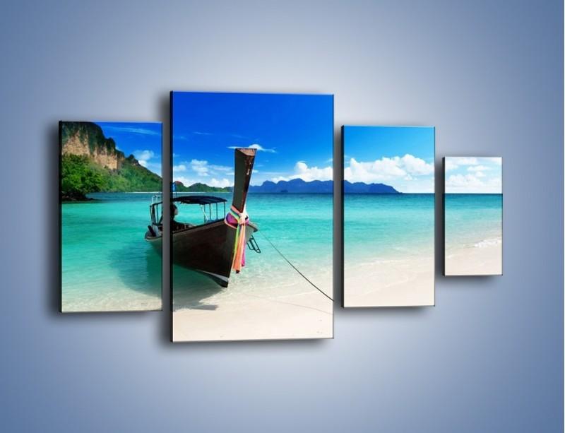 Obraz na płótnie – Wodny transport w tajlandii – czteroczęściowy KN083W4