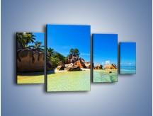 Obraz na płótnie – Bezludna wyspa i ja – czteroczęściowy KN1058W4