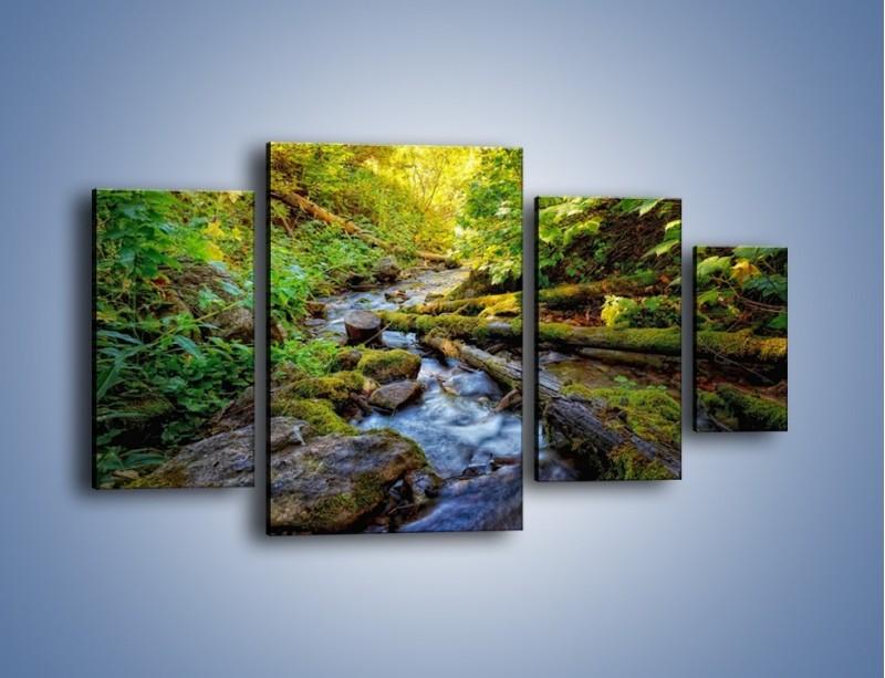 Obraz na płótnie – Drewno ścięte do wody – czteroczęściowy KN1059W4