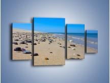 Obraz na płótnie – Całe morze kamyczków – czteroczęściowy KN1086AW4