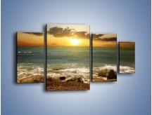 Obraz na płótnie – Brzegiem w stronę morza – czteroczęściowy KN1092AW4