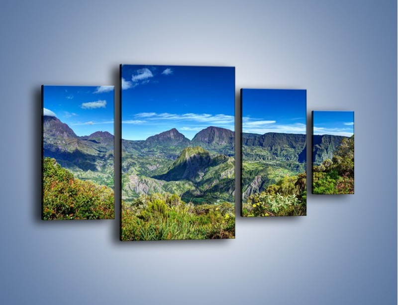 Obraz na płótnie – Zieleń ukryta wysoko w górach – czteroczęściowy KN1106W4
