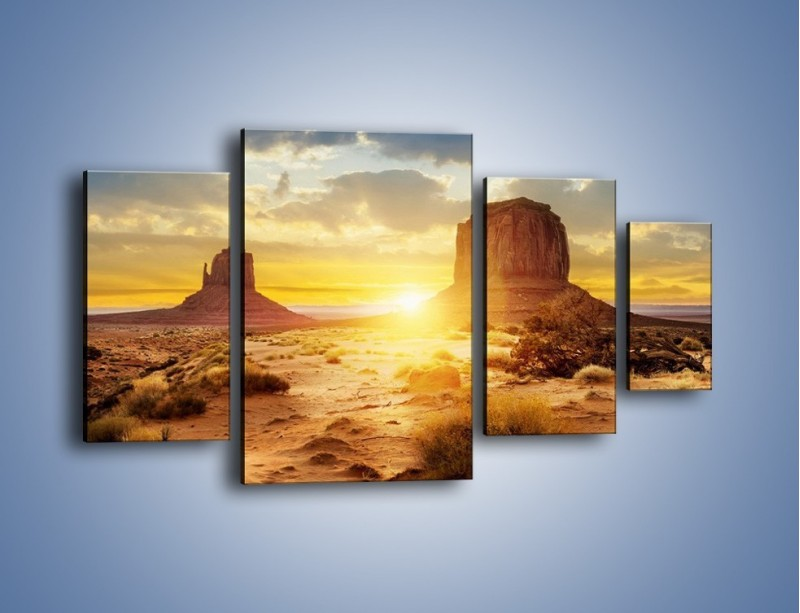 Obraz na płótnie – Budowle na piachu – czteroczęściowy KN1133AW4