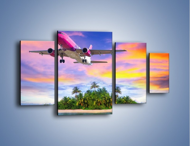 Obraz na płótnie – Powrót z bajkowych wakacji – czteroczęściowy KN1157AW4