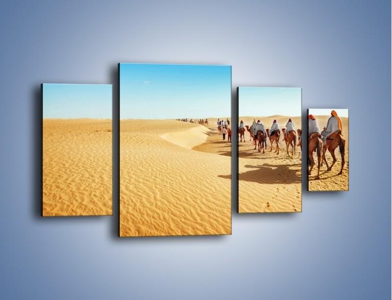 Obraz na płótnie – Szła karawana przez pustynię – czteroczęściowy KN1173AW4