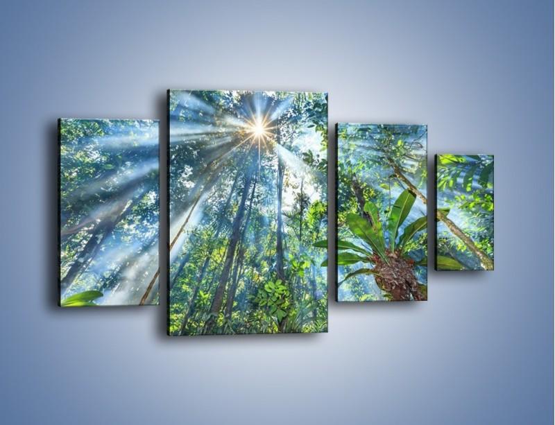 Obraz na płótnie – Dyzio marzyciel i drzewa – czteroczęściowy KN1189AW4