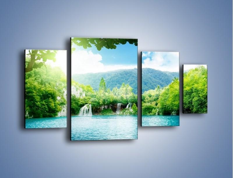 Obraz na płótnie – Kąpiel w chłodnej wodzie – czteroczęściowy KN1200AW4