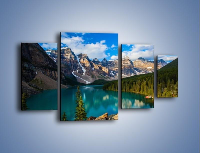 Obraz na płótnie – Spokój w górach – czteroczęściowy KN1258AW4