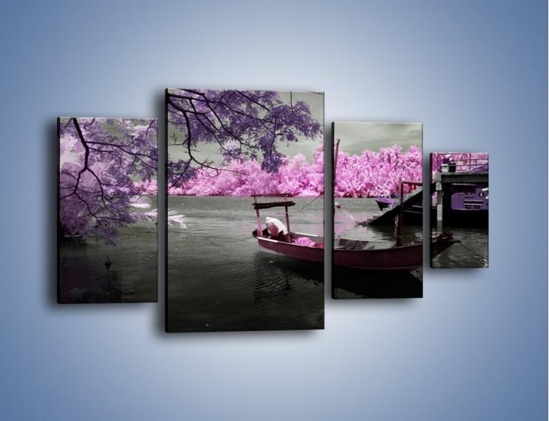 Obraz na płótnie – Krajobraz jak z japonii – czteroczęściowy KN1277AW4