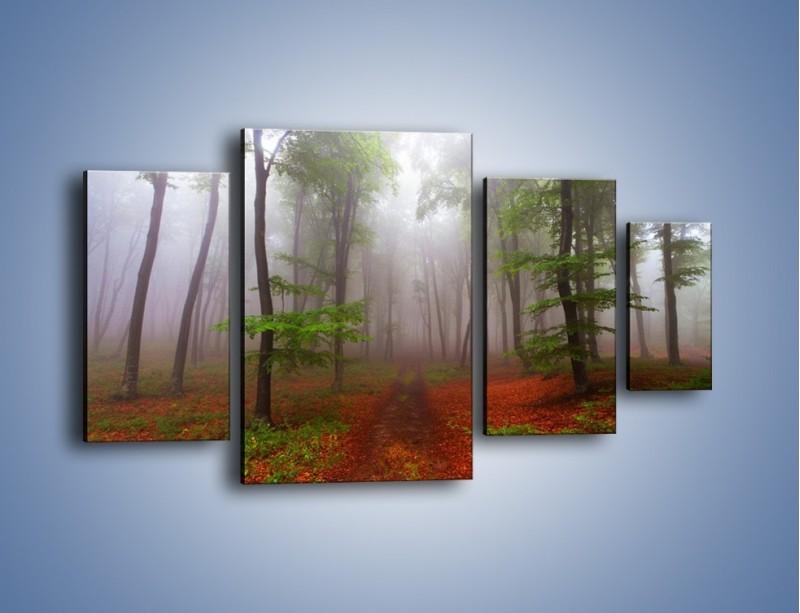 Obraz na płótnie – Budzący się lasek – czteroczęściowy KN1285AW4
