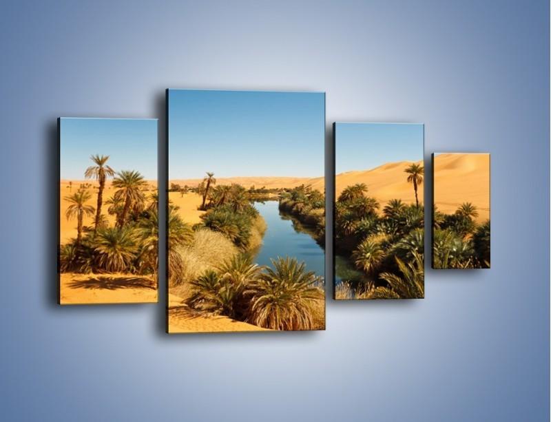Obraz na płótnie – Woda woda na pustyni – czteroczęściowy KN1294AW4