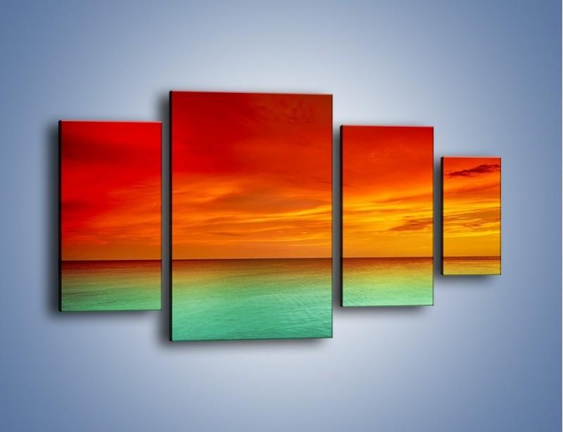 Obraz na płótnie – Horyzont w kolorach tęczy – czteroczęściowy KN1303AW4