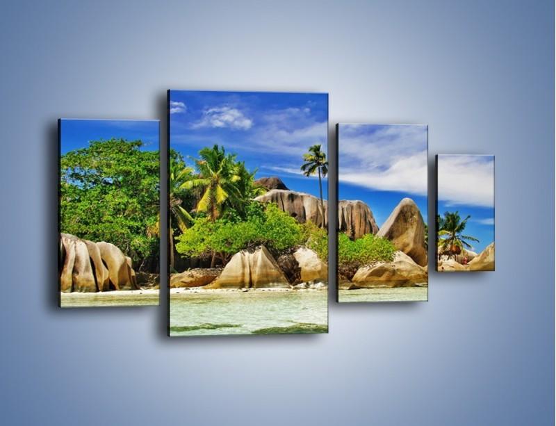 Obraz na płótnie – Tropiki i ich wysokości – czteroczęściowy KN1306AW4