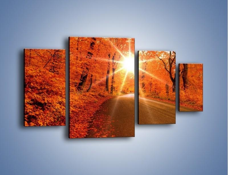 Obraz na płótnie – Droga pełna słońca – czteroczęściowy KN160W4